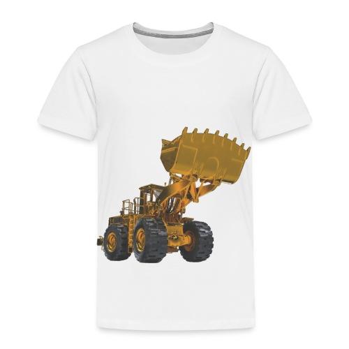 Old Mining Wheel Loader - Yellow - Toddler Premium T-Shirt