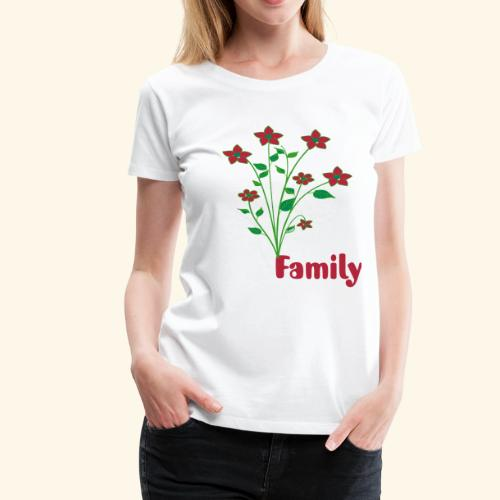 flowers and family - Women's Premium T-Shirt