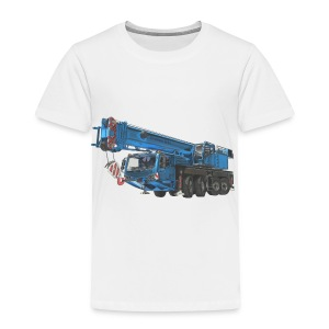Mobile Crane 4-axle - Blue - Toddler Premium T-Shirt