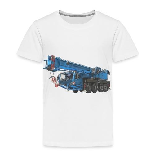 Mobile Crane 4-axle - Blue - Toddler Premium T-Shirt
