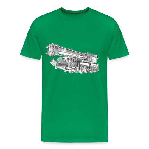 Mobile Crane 4-axle - Men's Premium T-Shirt