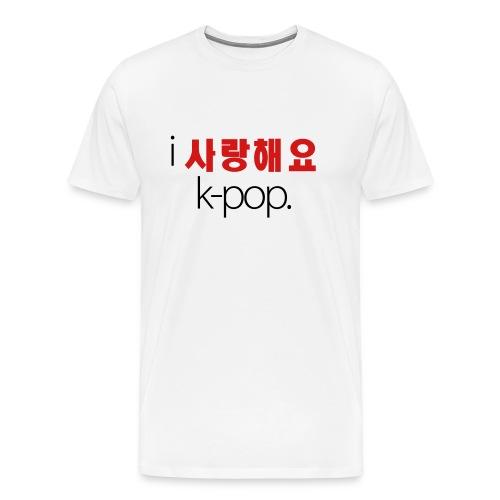 I Love K-Pop (Men's) - Men's Premium T-Shirt