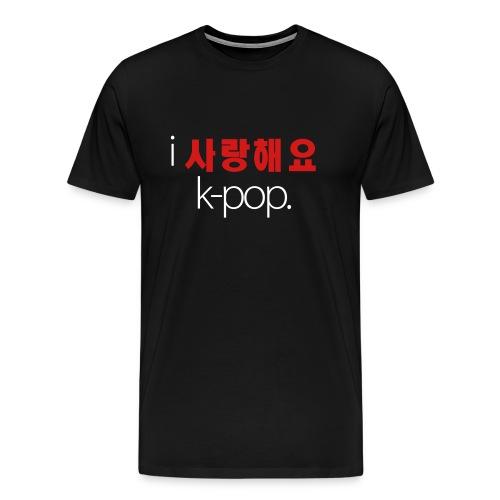 I Love K-Pop (Men's White Text) - Men's Premium T-Shirt