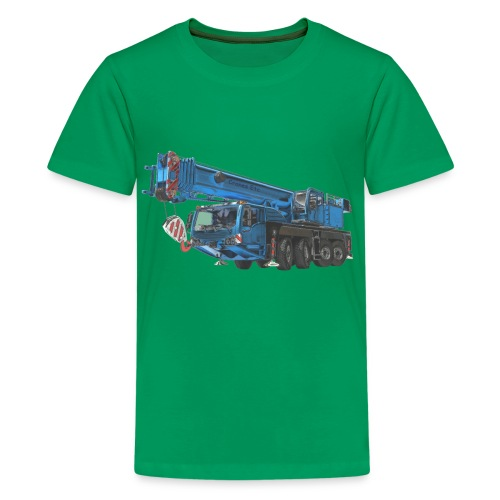 Mobile Crane 4-axle - Blue - Kids' Premium T-Shirt