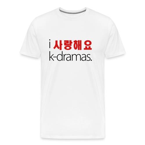 I Love K-Dramas (Men's) - Men's Premium T-Shirt