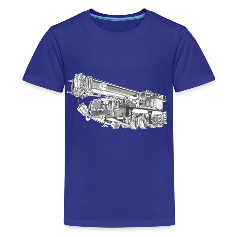 Mobile Crane 4-axle - Kids' Premium T-Shirt