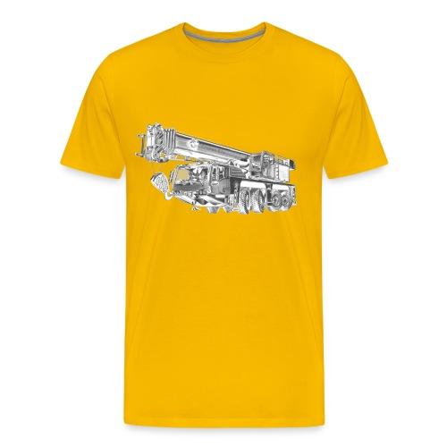 Mobile Crane 4-axle - Men's Premium T-Shirt