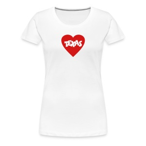 I Love Texas T-Shirt - Women's Premium T-Shirt