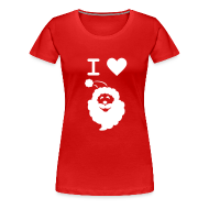 T-Shirts ~ Women's Premium T-Shirt ~ I LOVE SANTA CLAUS - Women's T-Shirt