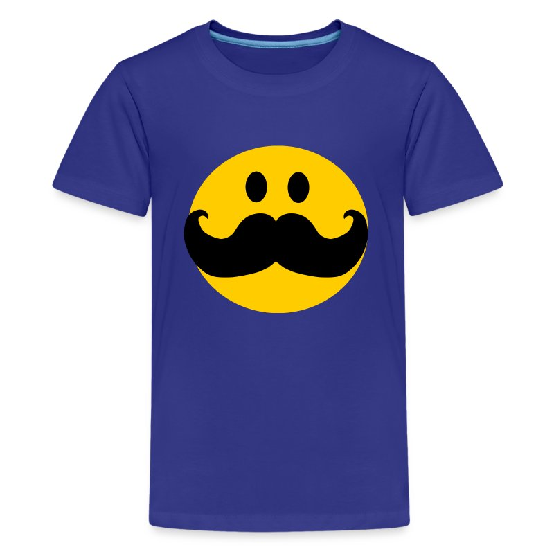 funny mustache smiley kids 39 shirts kids 39 premium t shirt. Black Bedroom Furniture Sets. Home Design Ideas