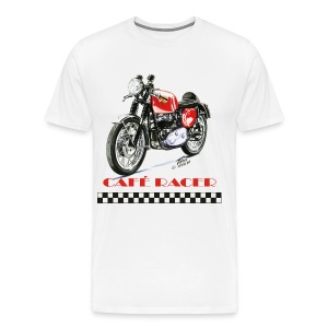 Cafe Racer- Rocket Gold Star - Men's Premium T-Shirt