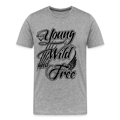 young wild and free - Men's Premium T-Shirt