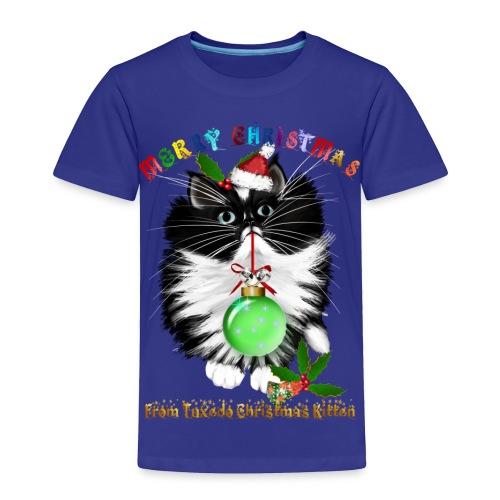 A Tuxedo Kitten Christmas - Toddler Premium T-Shirt