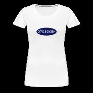 T-Shirts ~ Women's Premium T-Shirt ~ Hoboken 07030 Blue