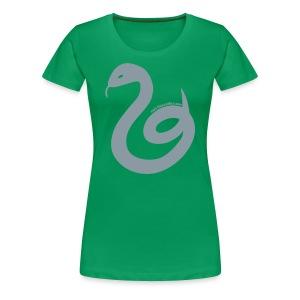Women's Slytherin Tee - Silver Snake - Women's Premium T-Shirt