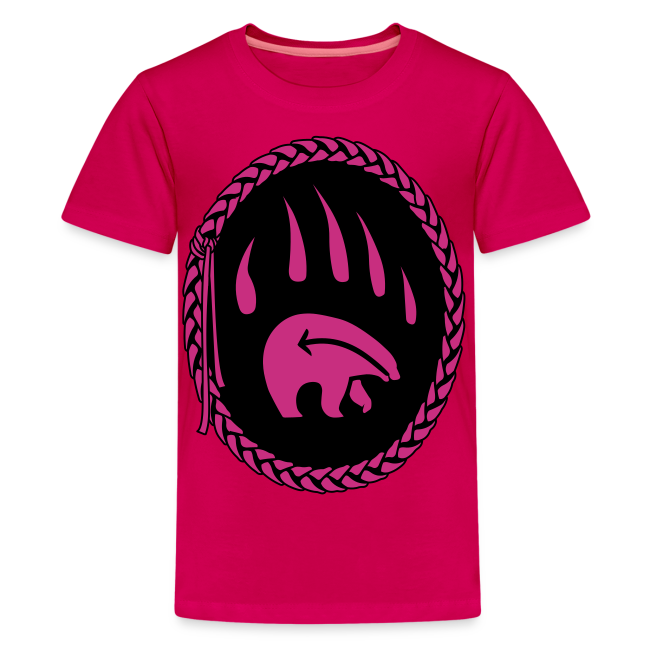 Tribal Art Kid's Shirt First Nations Bear T-shirt