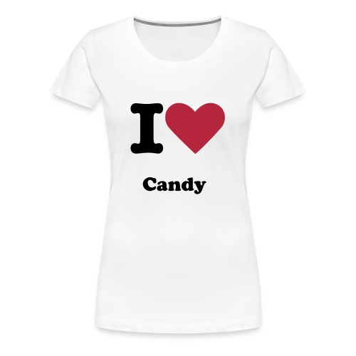 I Love candy tee shirt - Women's Premium T-Shirt