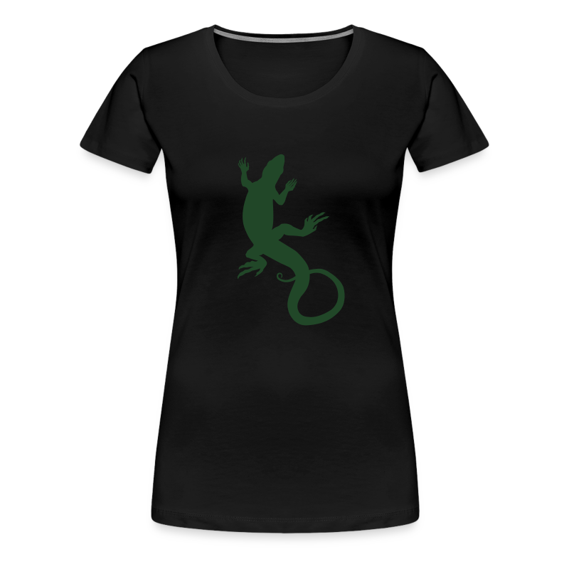 Lizard Art Shirt Women's Classic Reptiler Design - Women's Premium T-Shirt
