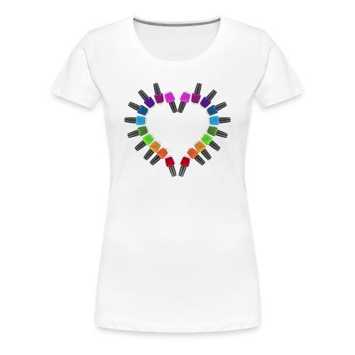 Women's Classic cut shirt nail polish heart | Major Tees - Women's Premium T-Shirt