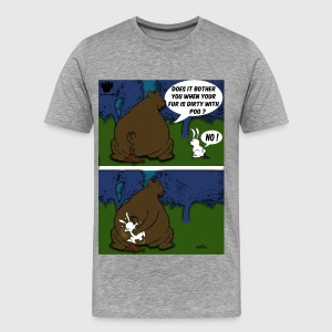 Bear Paw When a Bear poos in the woods T-Shirts - Men's Premium T-Shirt