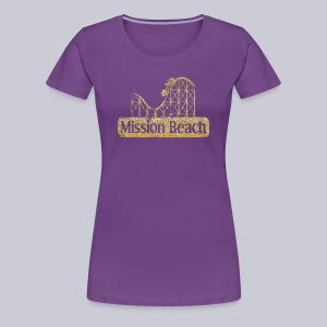 Vintage Mission Beach - Women's Premium T-Shirt
