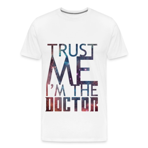 'Trust me I'm the doctor' Nebula on white - Men's Premium T-Shirt