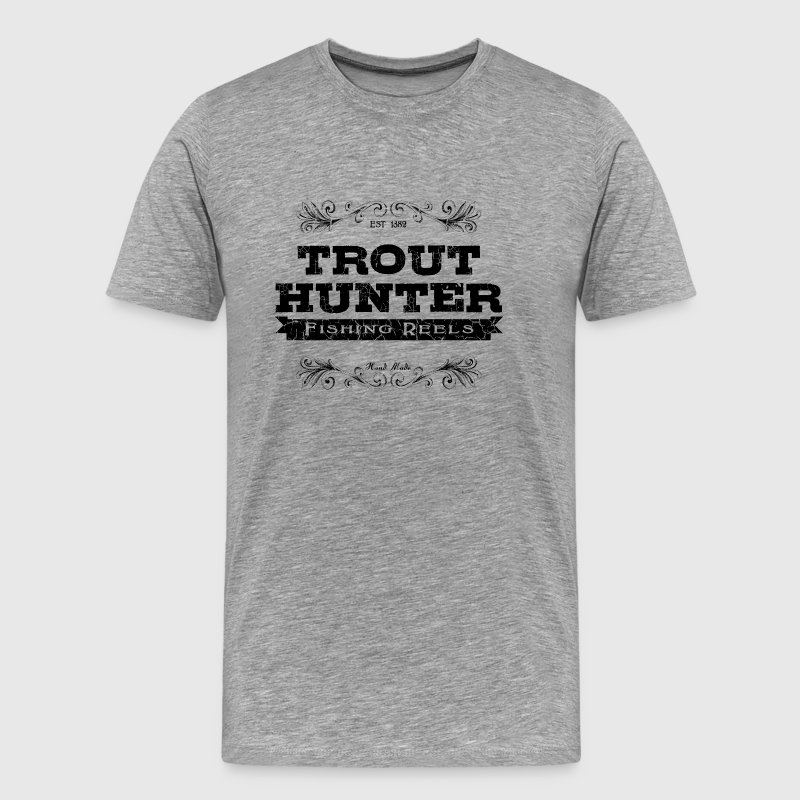trout hunter black T-Shirts - Men's Premium T-Shirt