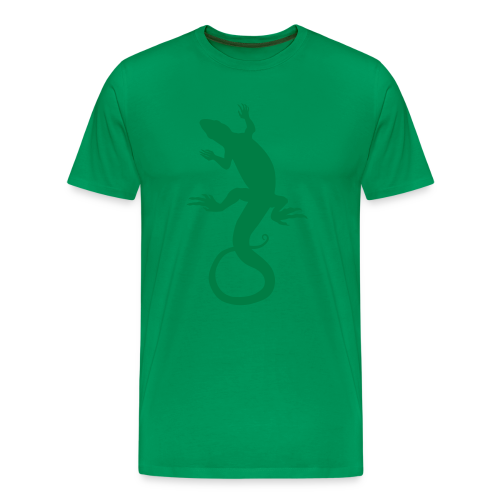 Men's Lizard Art Shirt 4XL 3XL Reptile T-shirt - Men's Premium T-Shirt