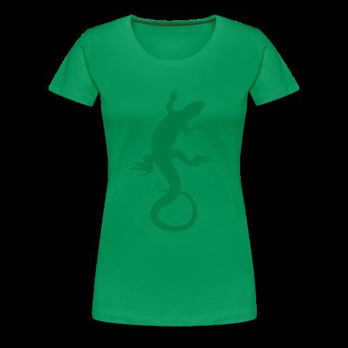 Lizard Art Shirt Plus Size Ladies T-shirt - Women's Premium T-Shirt