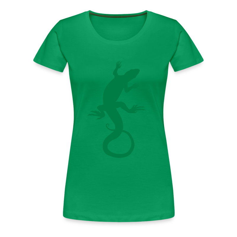 Lizard Art Shirt Plus Size Ladies T-shirt - Women's Premium T-Shirt