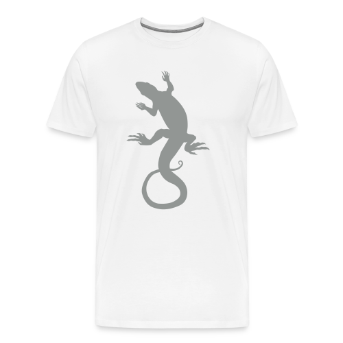 Men's Lizard Art Shirt Plus Size 4XL Reptile T-shirt - Men's Premium T-Shirt