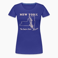 New York, The Empire State womens vintage T