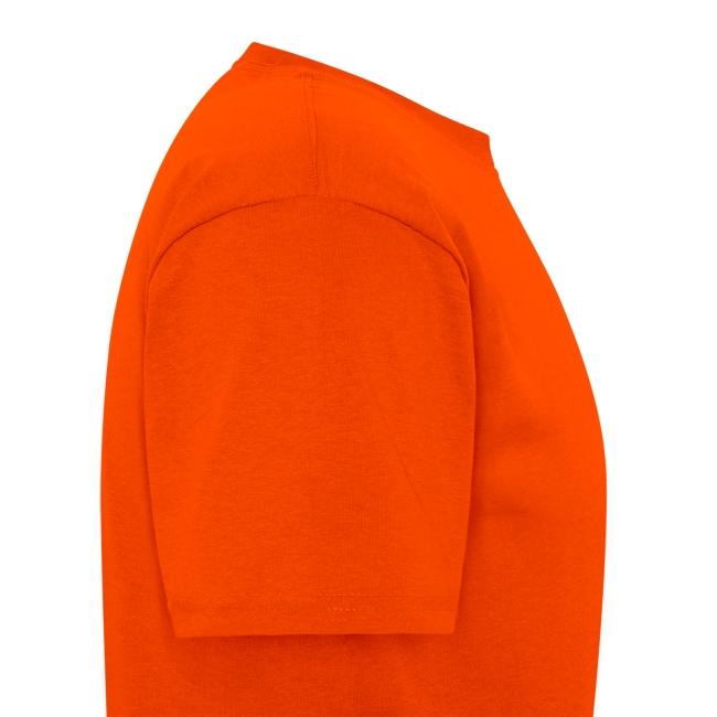 Men's Orange T-shirt With Black Logo