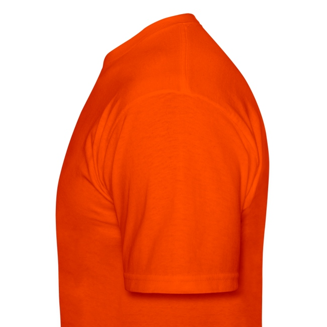Men's Orange T-shirt With Black Logo
