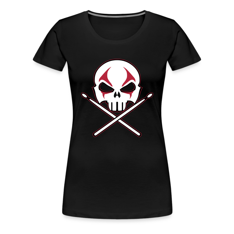 Rock and Roll Drummer Shirt Death Metal Drummer - Women's Premium T-Shirt