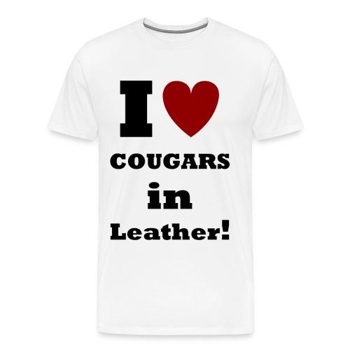 Cougars in Leather    BLA223 - Men's Premium T-Shirt