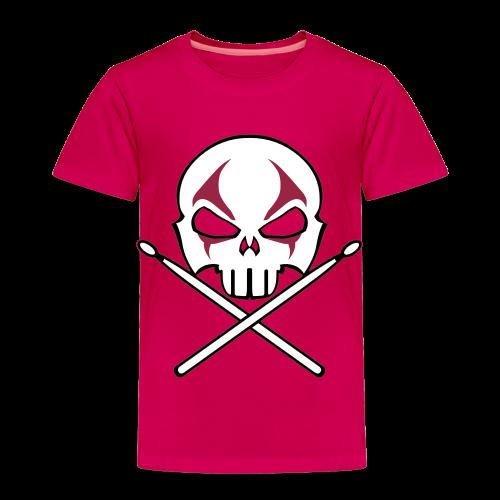 Rock and Roll Drummer Shirt Baby Heavy Metal Drummer T-shirt - Toddler Premium T-Shirt