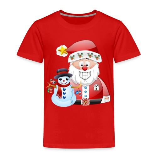 Christmas scene Santa father christmas snowman - Toddler Premium T-Shirt