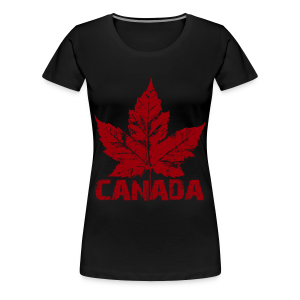 Women's Cool Canada Souvenir T-shirt Plus Size Canadian T-shirts - Women's Premium T-Shirt