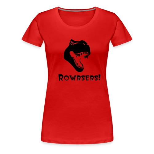 Surprised T-Rex women's tee - Women's Premium T-Shirt