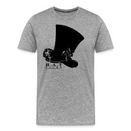 T-Shirts ~ Men's Premium T-Shirt ~ Official Hat Films Full Frontal (Black Logo)