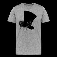 T-Shirts ~ Men's Premium T-Shirt ~ Official Hat Films Full Frontal (Black Logo)
