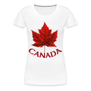 Women's Plus Size Canada T-shirt Maple Leaf Souvenir  - Women's Premium T-Shirt