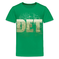 Kids' Shirts ~ Kids' Premium T-Shirt ~ Detroit Skyline Map