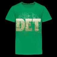 Kids' Shirts ~ Kids' Premium T-Shirt ~ Detroit Skyline Map