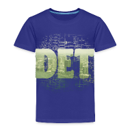 Baby & Toddler Shirts ~ Toddler Premium T-Shirt ~ Detroit Skyline Map