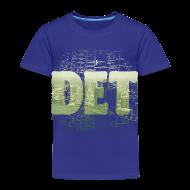 Baby & Toddler Shirts ~ Toddler Premium T-Shirt ~ Detroit Skyline Map