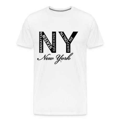 New York White Men T-shirt - Men's Premium T-Shirt