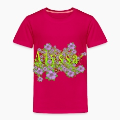 Alyssa Floral Lavender Flowers yellow Gold Baby & Toddler Shirts
