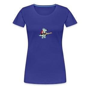 Guitar Dog - Women's - Women's Premium T-Shirt
